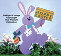 Large Hoppy Easter Woodcraft Pattern