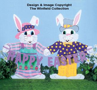 Happy Easter Pair Woodcraft Pattern