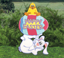 Happy Easter Bunny Woodcraft Pattern