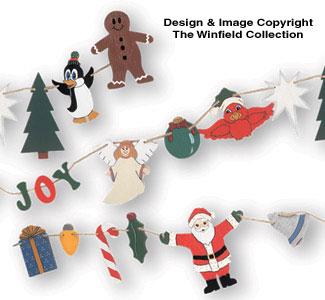 Christmas Garland Woodcraft Pattern