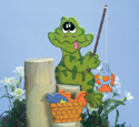 Frog Fly Fisher Woodcrafting Pattern