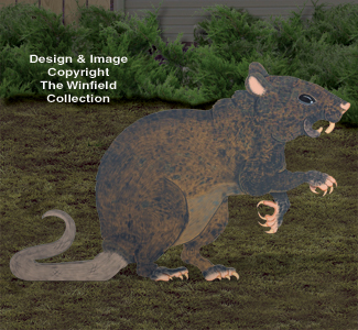 Giant Rat Woodcraft Pattern