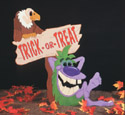 Dust Ball Halloween Sign Pattern