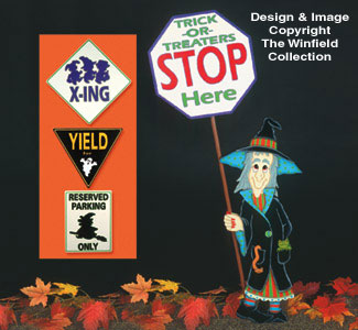 Halloween Traffic Sign Patterns