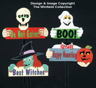 Four Halloween Sign Patterns
