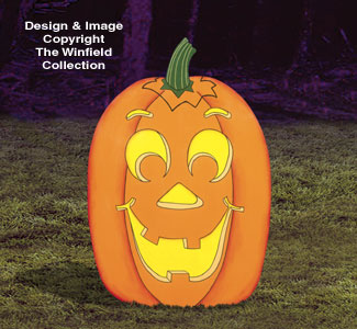 Huge Yard Pumpkin Woodcraft Pattern