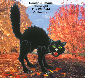 Huge Halloween Cat Woodcraft Pattern