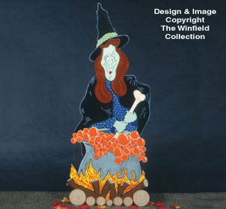 Huge Yard Witch Woodcraft Pattern