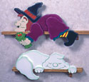 Lazy Ghost & Witch Woodcraft Pattern
