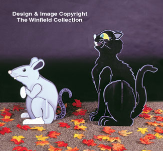 Giant Cat & Rat Woodcraft Pattern