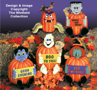 Dress Up Pumpkins Woodcraft Pattern