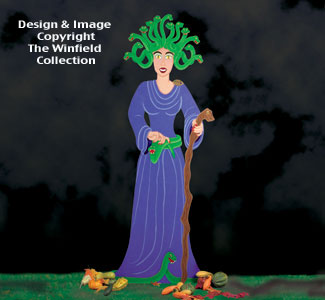 Huge Medusa Woodcraft Pattern