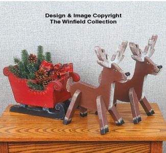 Holiday Sleigh & Reindeer Patterns