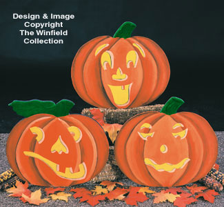Pumpkin Faces Woodcraft Pattern