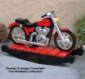 Child toy game plans motorcycle rocker woodworking plan for Woodworking plan for motorcycle rocker toy