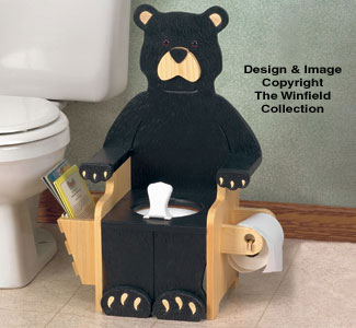 Black Bear Potty Chair Woodworking Plan