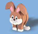 Layered Rabbit Woodcraft Pattern