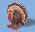 Layered Turkey Woodcraft Pattern