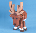 Layered Deer Woodcraft Pattern