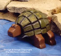 Layered Turtle Woodcraft Pattern