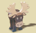 Layered Moose Woodcraft Pattern