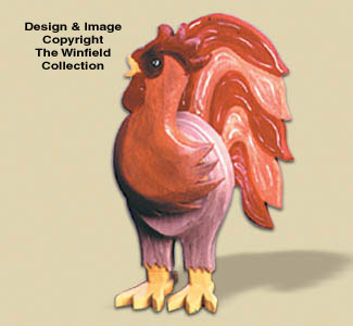 Layered Rooster Woodcraft Pattern