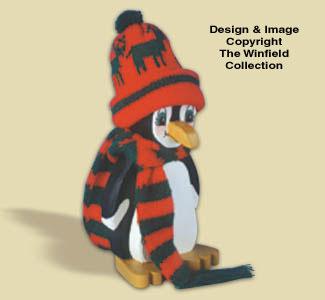 Layered Penguin Woodcraft Pattern