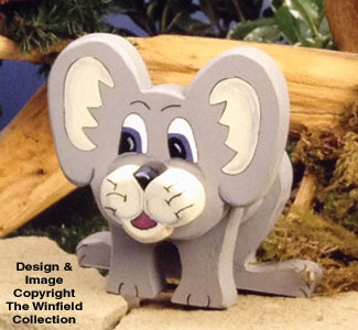 Layered Mouse Woodcraft Pattern