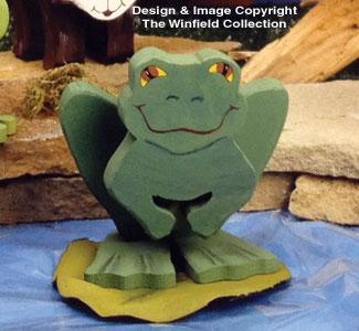 Layered Forest Animals Layered Frog Woodcraft Pattern