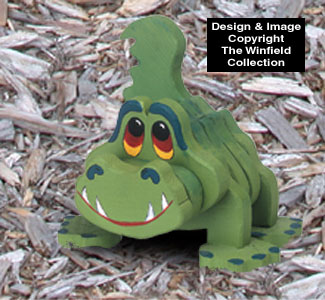 Layered Gator Woodcraft Pattern