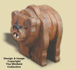 Layered Grizzly Woodcraft Pattern