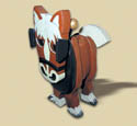 Layered Clydesdale Woodcraft Pattern