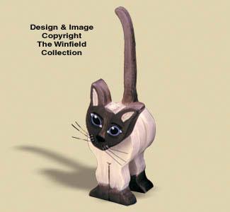 Layered Siamese Cat Woodcraft Pattern