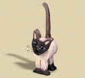 Layered Siamese Cat Woodcraft Pattern