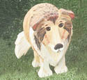 Layered Collie Woodcraft Pattern