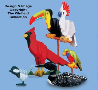 Layered Birds Combo Pattern Set