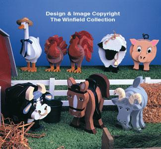 Farm Animals Layered Animal Pattern Set