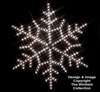 Snowflake Nite-Lite Woodcraft Pattern