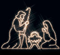 Nativity Nite-Lite Wood Pattern