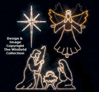 Angel, Star & Nativity Nite-Lite Pattern Set