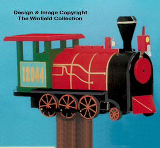 Locomotive Mailbox Woodcraft Pattern