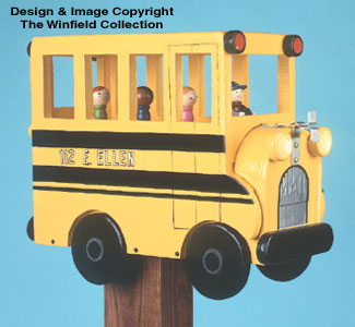School Bus Mailbox Woodcraft Pattern