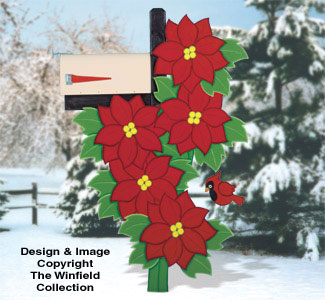 Poinsettia Mailbox Cover Woodcraft Pattern