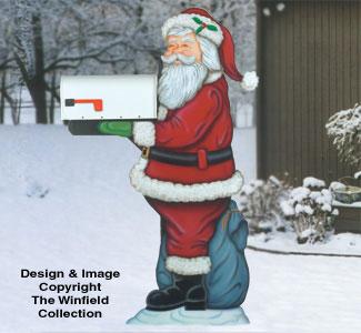 Santa Mailbox Holder Woodcraft Pattern