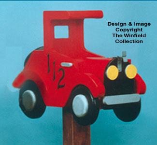 Car Mailbox Wood Pattern