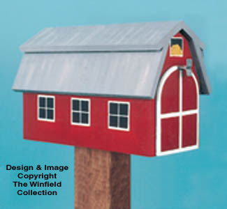 Red Barn Mailbox Woodcraft Pattern