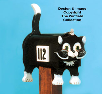 Cute Kitty Mailbox Woodcraft Pattern
