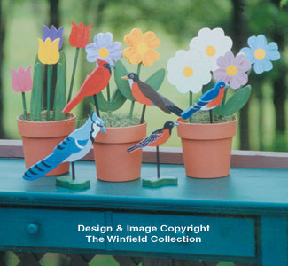 16 Mini Plant Pokes Woodcraft Pattern