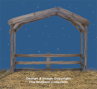 Nativity Stable Woodcraft Pattern