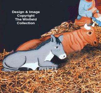 Cow & Mule Woodcraft Pattern